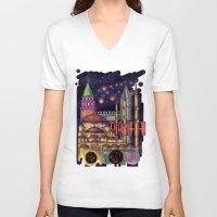 istanbul V-neck T-shirts featuring Istanbul  by Aleksandra Jevtovic