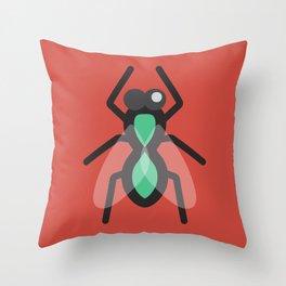 No Flies On Me Throw Pillow