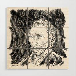 Van Gogh in black Wood Wall Art