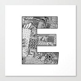 Cutout Letter E Canvas Print