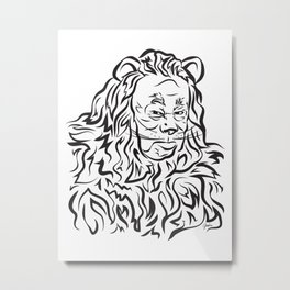 Face The Lion Metal Print