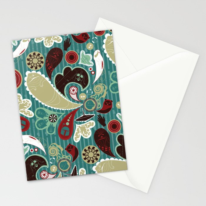 A Long Time Ago In A Paisley Far Far Away Stationery Cards