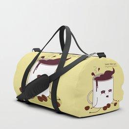 Coffee Mug Addicted To Coffee Duffle Bag