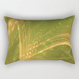 Green Yellow Asymmetric Fractal Rectangular Pillow