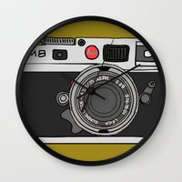 camera Wall Clocks featuring Camera by Illustrated by Jenny