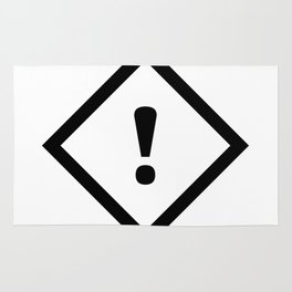 warning sign Rug