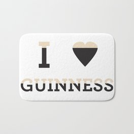 I heart Guinness Bath Mat