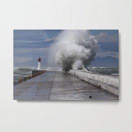 Storms in False Bay  Metal Print