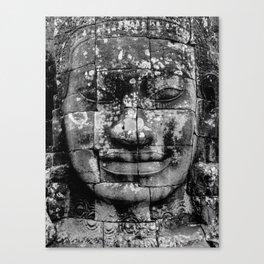 Cambodia. Angor Wat. Faces of Lokesvara Canvas Print