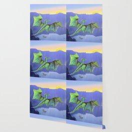 Green Crystal Water Dragon Wallpaper