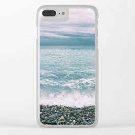 Menton Beach Clear iPhone Case