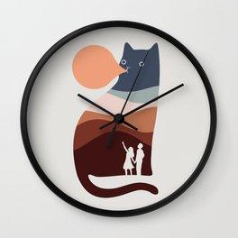 Cat Landscape 35 Wall Clock