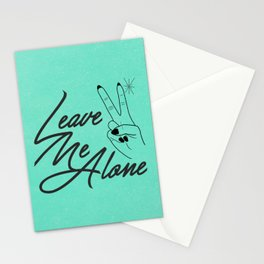 Leave Me Alone Stationery Cards