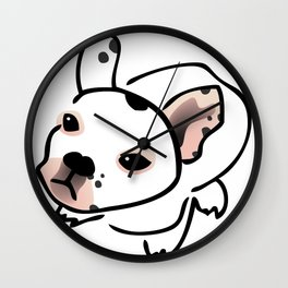 French Bulldog Pup Drawing Wall Clock