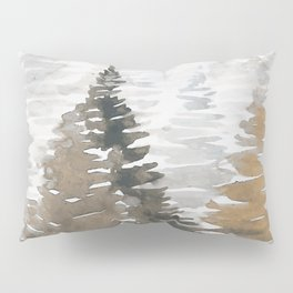 Watercolor Pine Trees 3 Pillow Sham