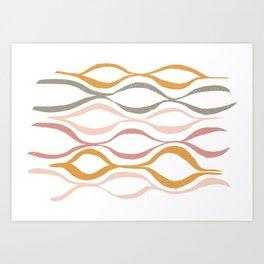 Catch the Wave (Blush) Art Print