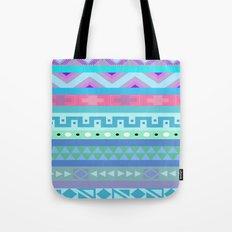 Calm Colored Tribal Print Tote Bag