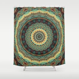 Indian Paisley Kaleidoscope Mandala Shower Curtain
