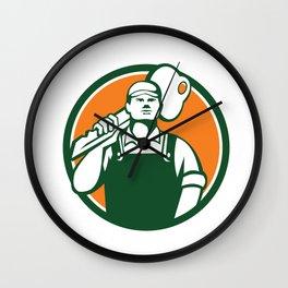 Locksmith Carry Key Shoulder Circle Retro Wall Clock