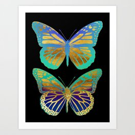 Pop Art Butterflies Art Print
