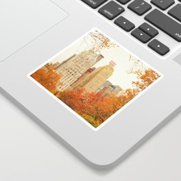 Autumn - Central Park - Fall Foliage - New York City Sticker