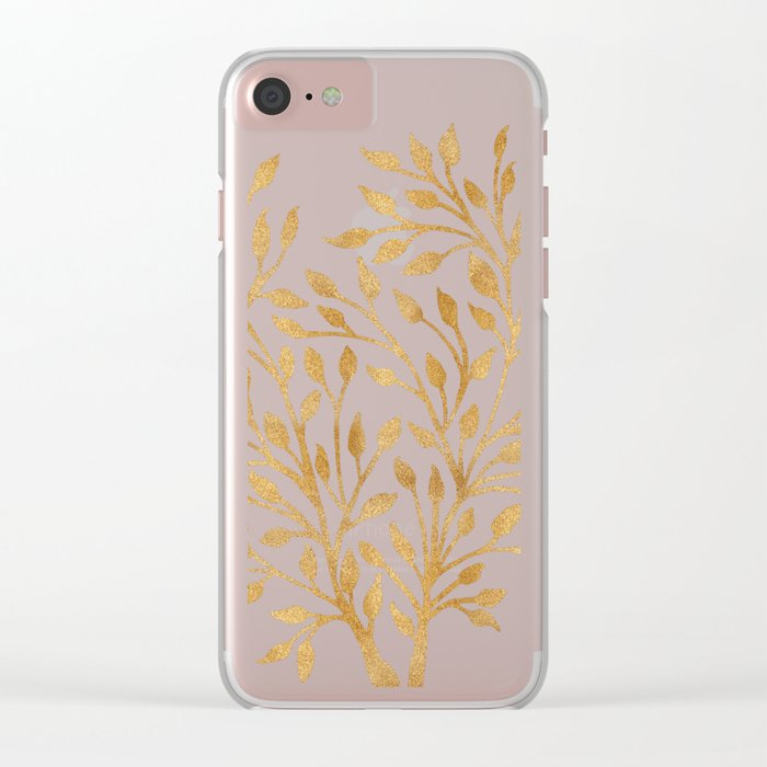 Golden Ficus Tree Clear iPhone Case