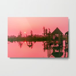 Sunrise over the Hoi An River, Vietnam Metal Print