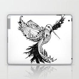 Hummingbird Phoenix Pen and ink Hand drawn design Laptop & iPad Skin