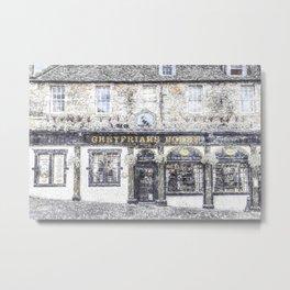 Greyfriars Bobby Pub Snow Metal Print