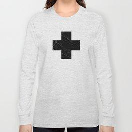 Black Marble Cross Long Sleeve T-shirt
