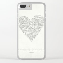 Coded heartprint Clear iPhone Case