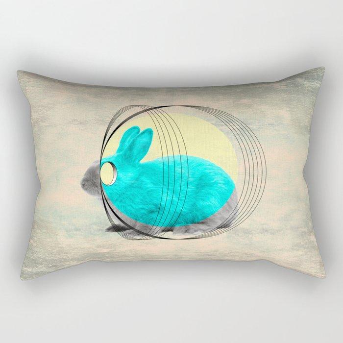 hypnotic rabbit Rectangular Pillow