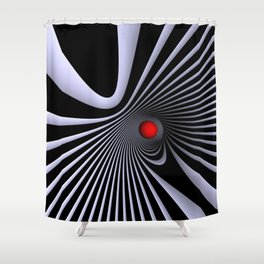 go red -5- Shower Curtain