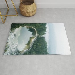 Forest Lake behind a large lake in the forest – Landscape Photography Rug