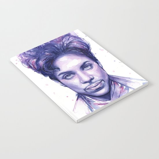 Prince Purple Watercolor Rain Notebook