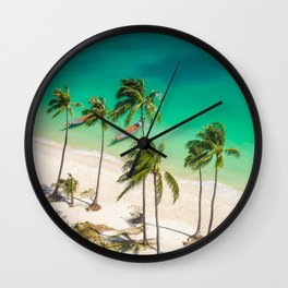 An Aerial view of a Scenic Beach in Thailand Wall Clock