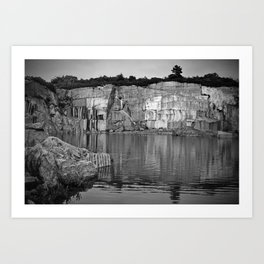 The Old Quarry at Perros Guirec in Brittany, France - Art Print Art Print
