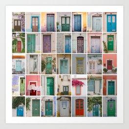 Travel Door Collection Art Print