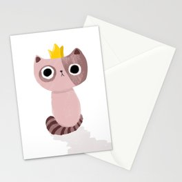 King Kitten Stationery Cards