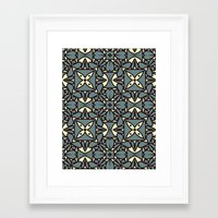yellow pattern Framed Art Prints featuring Pattern Yellow by Annabelle A.