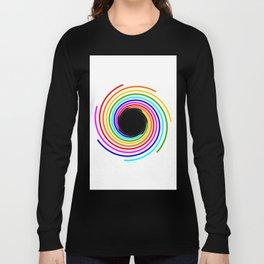 Rainbow Galaxy with Black hole inside Long Sleeve T-shirt