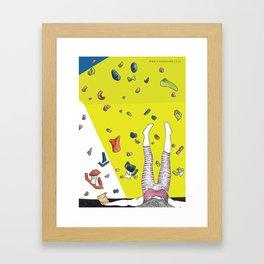 Indoor Climbing Framed Art Print