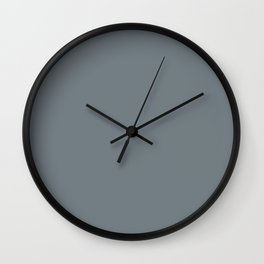Stormcloud Gray - Solid Collection Wall Clock
