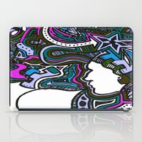 techno iPad Cases featuring Purple Techno by Madison R. Leavelle