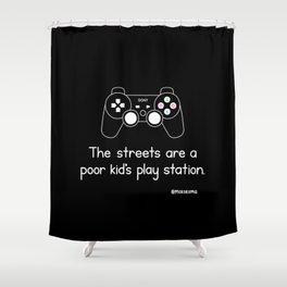 PlayStation (Black) Shower Curtain