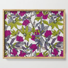Pattern with bougainvillea flowers Serving Tray