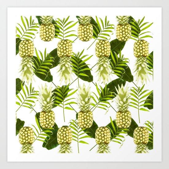 Tropical Pineapple Art Print