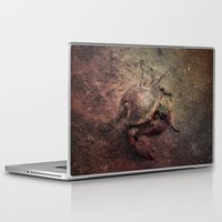 crab Laptop & iPad Skins featuring Crab Nebula by Distortion Art