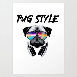 Pug Style Art Print