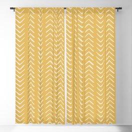 Yellow Arrow Mudcloth  Blackout Curtain